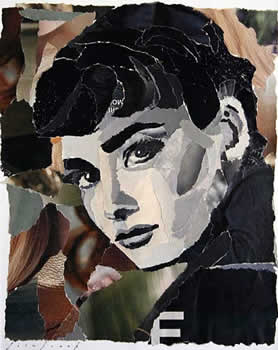 collage of Audrey Hepburn