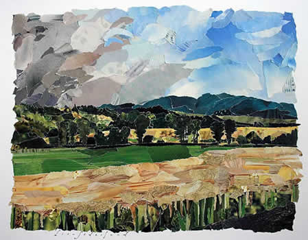 collage of a landscape