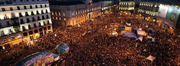 Madrid Spain - Indignados Puerta del Sol