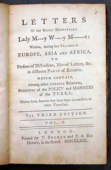 Book Lady Mary Wortley Montagu - Letters