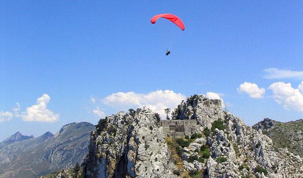 Paragliding over St. Hilarion