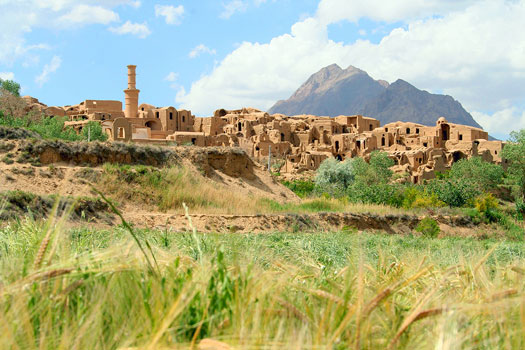 View of Charanak, an ancient village in Iran