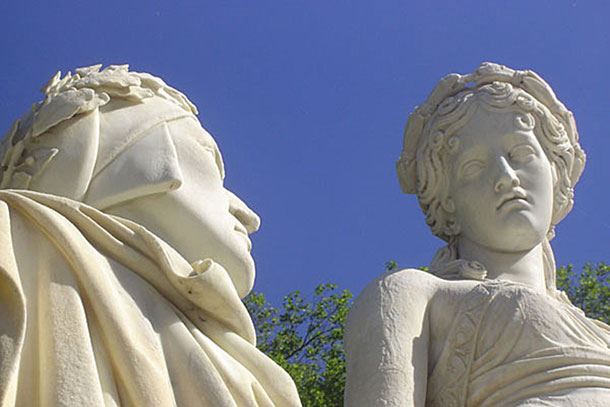 Dante and Beatrice by Giovan Battista Comolli Milan