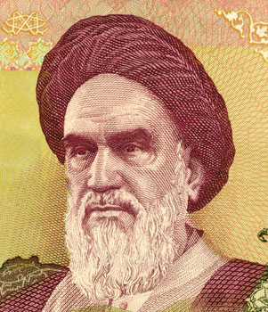Khomeini on 2000 Rials banknote