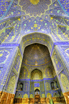 The Shah's Mosque in Isfahan, Iran