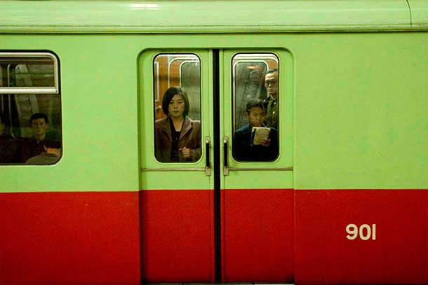 The Pyongyang Metro carriages were formerly used in the East Berlin Metro.