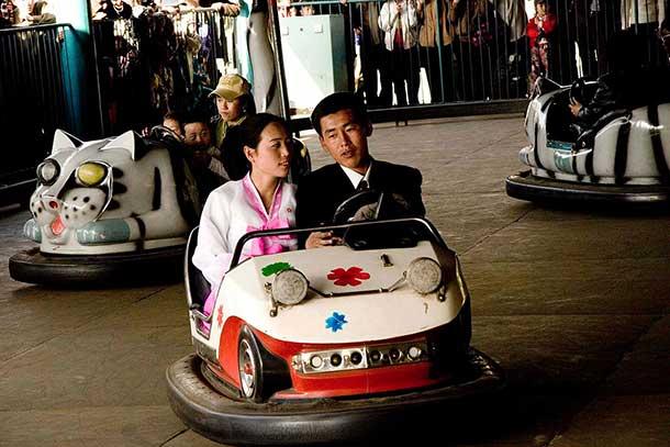 An amusement park in Pyongyang.
