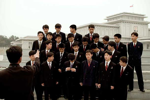 The Kumsusan Palace in Pyongyang is where the mausoleum of Kim Il Sung is located. You must wear a tie to enter.