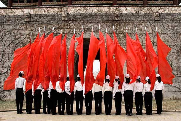 A group exhibition on May Day in Pyongyang.