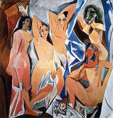 Les Demoiselles d'Avignon. Pablo Picasso 1907 Moma. New York City