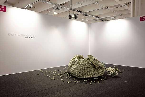 Dollar Trash by Kuwaiti artist Farid Saleem Kamboh at Slick