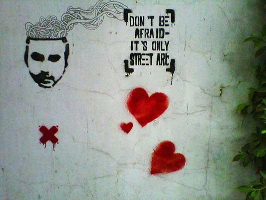 A stencil in Maadi