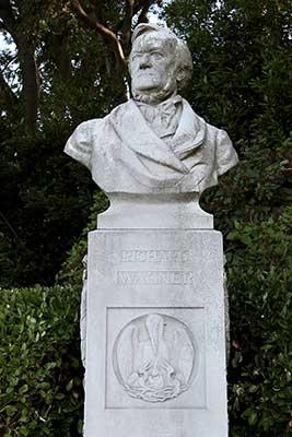 "Statue of Richard Wagner. ""Giardini Biennale"". Venice Italy"