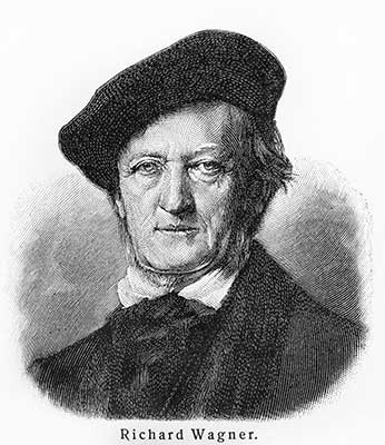 Richard Wagner Picture from Meyers Lexicon books