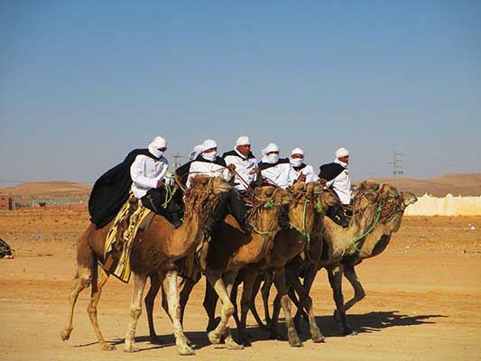 Camel Riders at the Festival