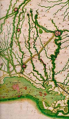 Old map showing Venice
