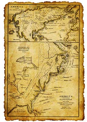 Old map of North American East Coast