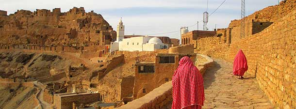 Berber women in Chenini village