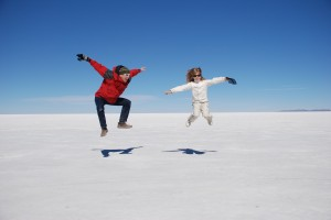 Enjoying the saltlake flats