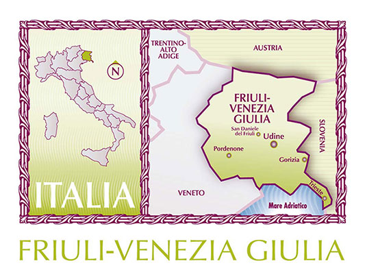 Friuli map