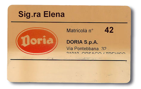 Doria factory card