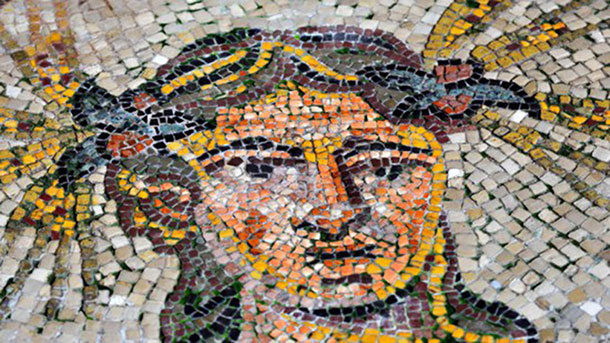 One of the mosaic in Spilimbergo