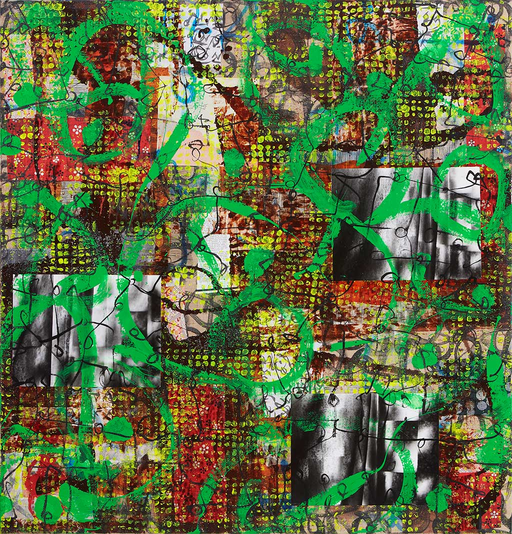 Oracle B 2012  Mixed media on canvas 145x140 cm