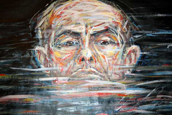 Manfred Zylla  Detail of Swimming in Oil (Portrait)