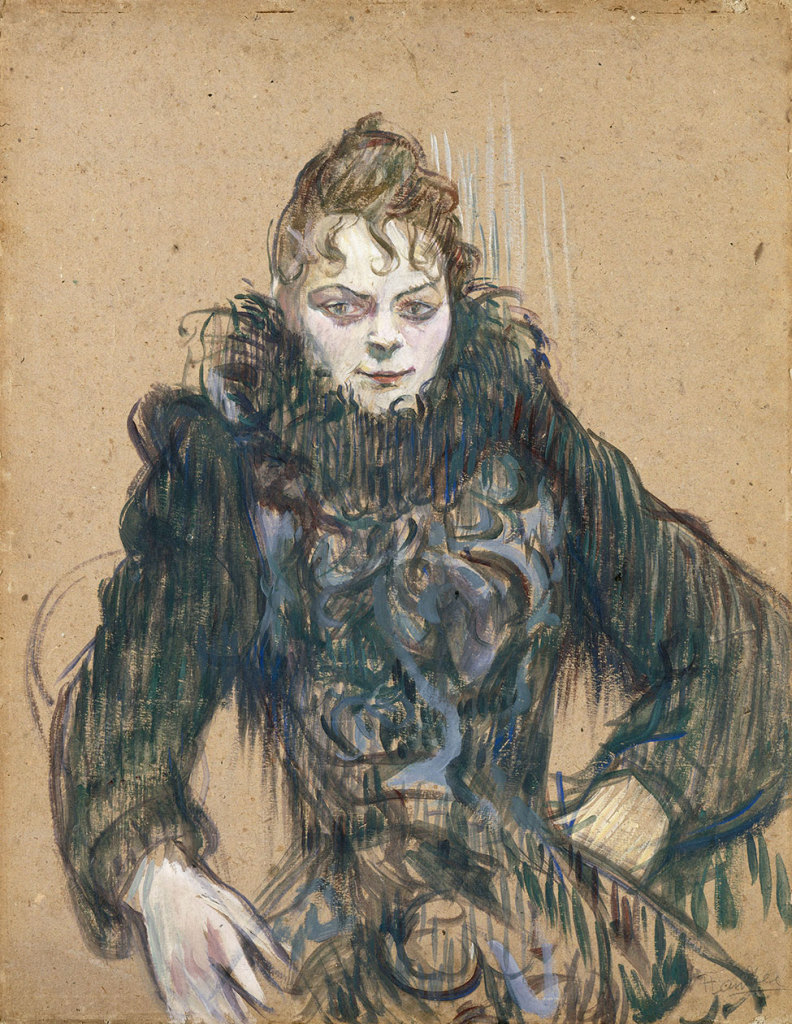 "The Woman with the Black Boa"", 1892, Musée d'Orsay, Paris, donation by the Countess Alphonse de Toulouse-Lautrec, mother of the artist, 1902 © RMN - Grand Palais (musée d'Orsay) / Hervé Lewandowski"