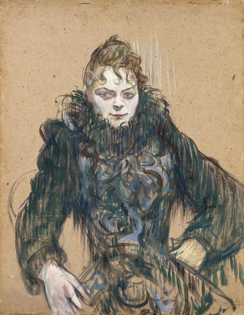"""The Woman with the Black Boa"""", 1892, Musée d'Orsay, Paris, donation by the Countess Alphonse de Toulouse-Lautrec, mother of the artist, 1902 © RMN - Grand Palais (musée d'Orsay) / Hervé Lewandowski"""