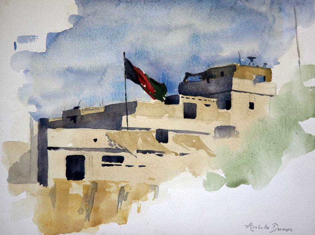 Flying the Afghan Flag