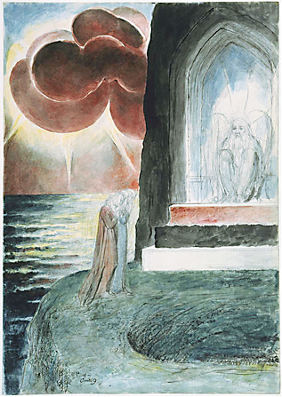 "William Blake, Illustrations to Dante's ""Divine Comedy"", 1824-27. Water colour, ca. 37x52 cm Divine_Comedy_WBlake"