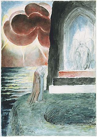 William Blake, Illustrazione della Divina commedia di Dante. 1824-27. Water colour, ca. 37x52 cm