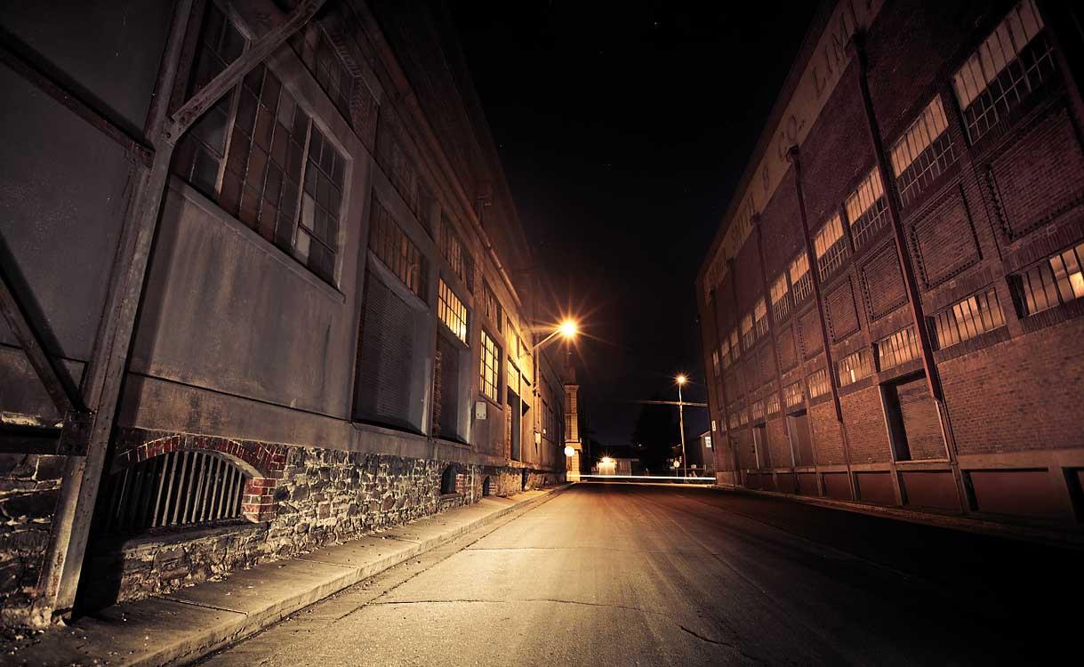 St. Louis - Night shots: city, street, hospital