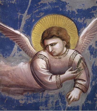 Fuga in Egitto (dettaglio), Giotto 1304-06. Cappella Scrovegni