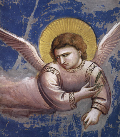 Giotto, Flight into Egypt (detail), 1304-06. Scrovegni Chapel