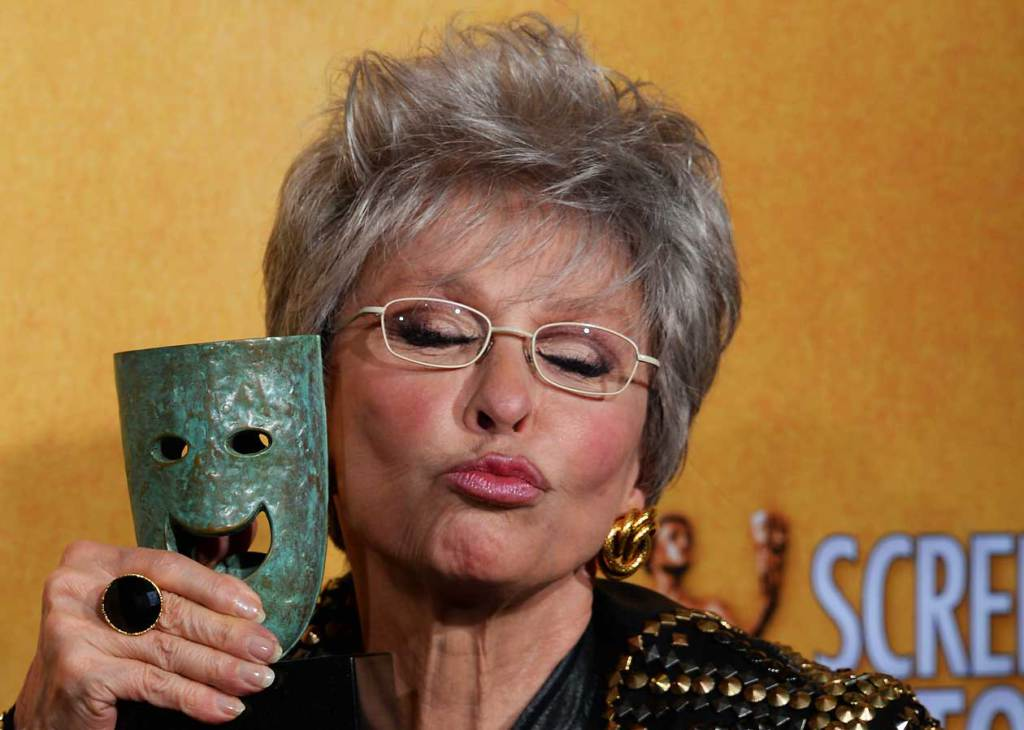 Rita Moreno  having fun on receiving  her life achievement  award