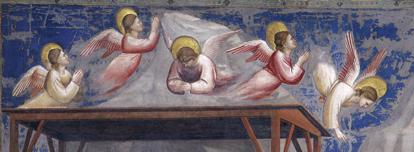 Giotto, The Nativity – Birth of Jesus (detail), 1304-06. Scrovegni Chapel