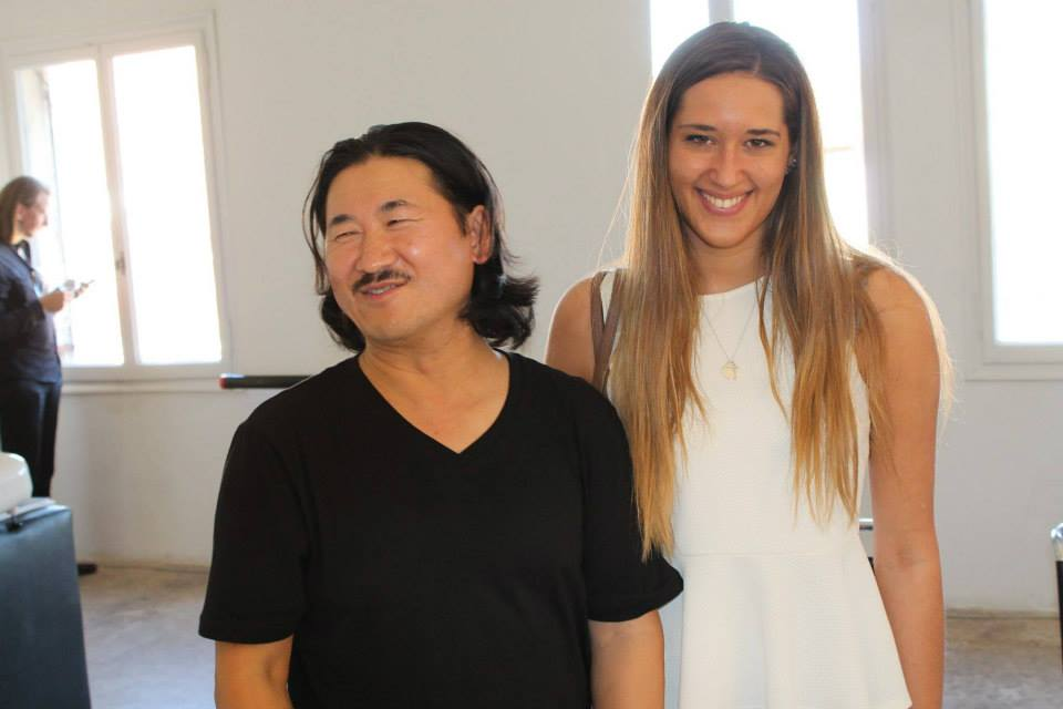 Qin Chong with Miss Anna Campagna