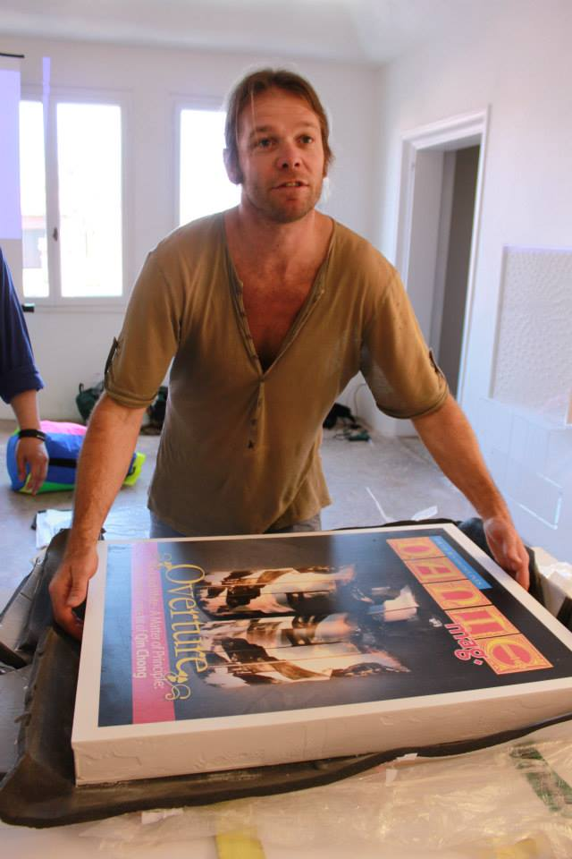 """Sweet"" artist Marco Chiurato show gigantic copy of DANTEmag cover made of sugar"