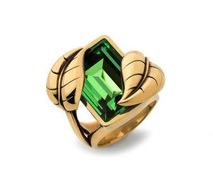 Atelier Swarovski  by Sandy Powell Leaf Ring - Green.