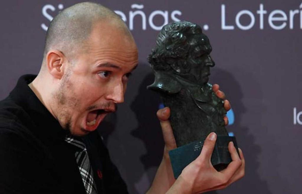 Guille Millkyway con el Goya a la mejor canción original en su edición del 2010