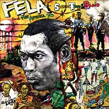 The album artwork for Fela Kuti's 'Sorrow Tears and Blood' designed by Lemi Ghariokwu, 1977, on display in West Africa: Word, Symbol, Song. Image courtesy of Lemi Ghariokwu But