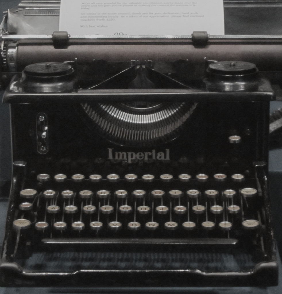 Imperial Typewriter in Museum of Liverpool/ Wiki commons
