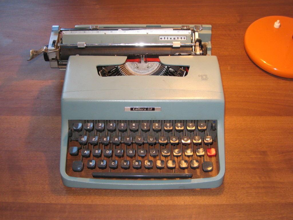 Portable typewriter used by Leonard Cohen, Sylvia Plath and some happier people