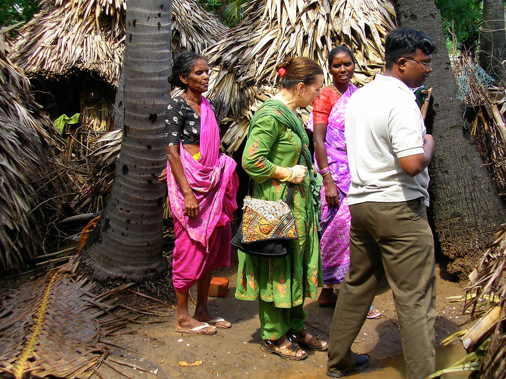 Visiting tsunami survivors in Tamil Nadu, South India