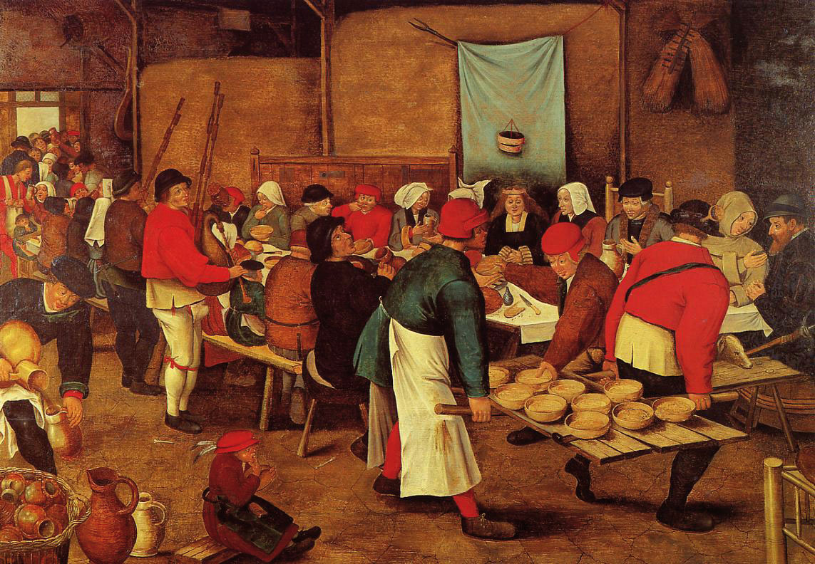 Wedding Feast in a Barn Pieter Brueghel the Younger