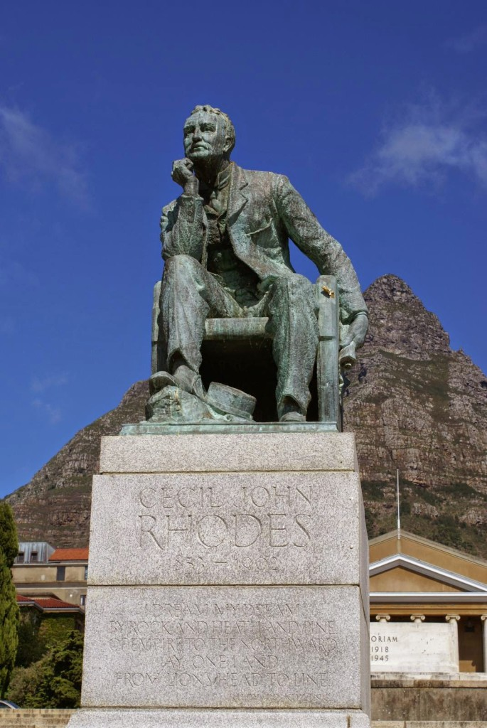 The Rhodes statue removed at the University of Cape Town