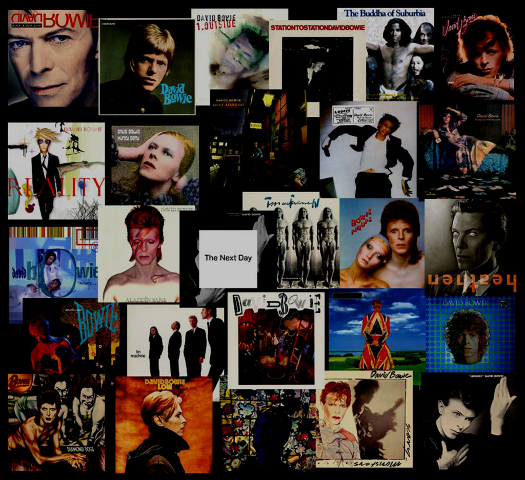 A montage of David Bowie covers