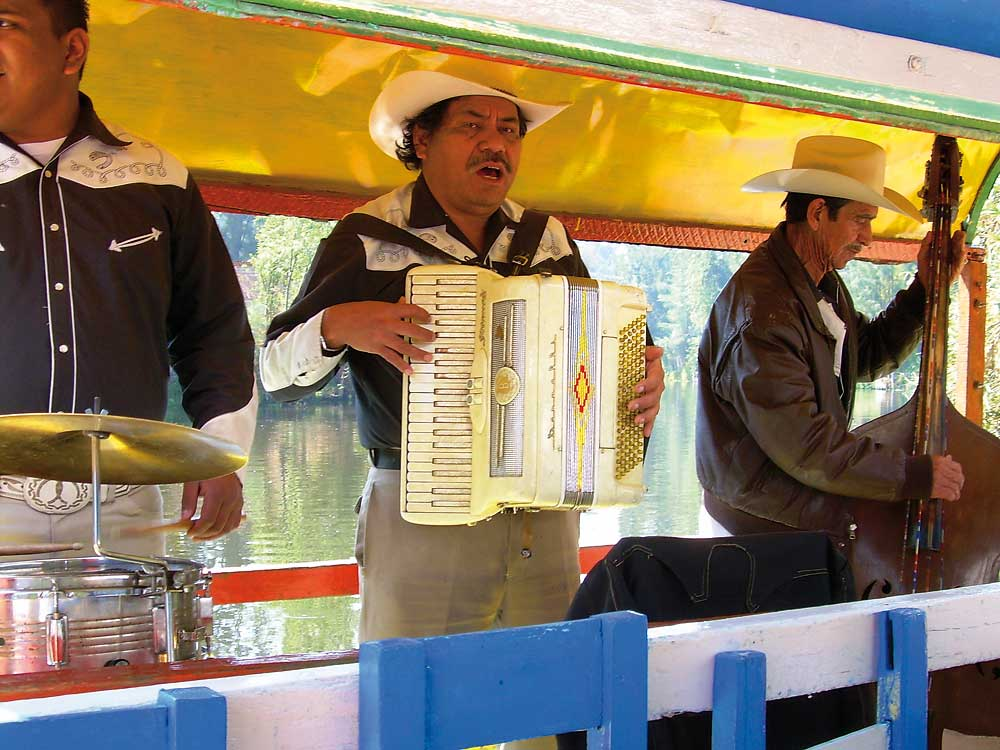 Mariachis on a river boat - Xochimilco